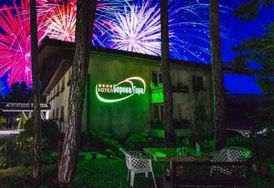 Нова година в Хотел Борова гора, Пирдоп! 2 нощувки със закуски, 1 обяд и 1 вечеря, Новогодишна вечеря и пограма с DJ, ползване на вътрешен басейн и сауна, безплатно за дете до 1.99 г. - Снимка