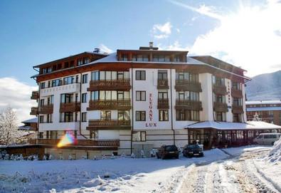 Отпразнувайте Нова година в Хотел Елегант Лукс 4* в Банско! 5 нощувки със закуски и вечери, ползване на топъл минерален басейн, джакузи, финландска и инфрачервена сауна, парна баня и турска баня, фитнес - Снимка