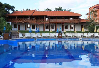 Релаксирайте в Еко стаи Манастира, Хисаря! 2 или 3 нощувки със закуски и вечери, ползване на вътрешен басейн и релакс зона, безплатно настаняване на дете до 2.99 г - Снимка