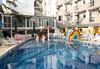 Изпратете лятото с почивка в Престиж Делукс Аквапарк 4* в к.к. Златни пясъци! 1 нощувка на база All inclusive, ползване на 3 външни басейна с 2 аквапарка, анимация за децата, 2 вътрешни басейна, сауна, джакузи и фитнес - thumb 1