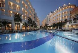 Самолетна почивка в Турция! 7 нощувки на човек на база Ultra all inclusive в Alba Queen Hotel 5*, Сиде, Турска ривиера с двупосочен чартърен полет от София - Снимка