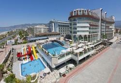 Самолетна почивка в Турция! 7 нощувки на човек на база Ultra all inclusive в Asia Beach Resort & Spa  5*, Алания, Турска ривиера с двупосочен чартърен полет от София - Снимка