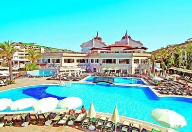 Самолетна почивка в Турция! 7 нощувки на човек на база All inclusive в Aydinbey Famous Resort 5*, Кемер, Турска ривиера с двупосочен чартърен полет от София - Снимка