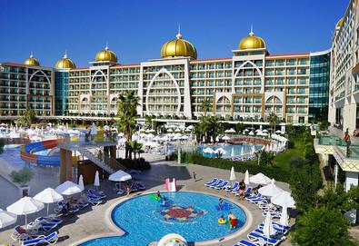 Самолетна почивка в Турция! 3 нощувки на човек на база All inclusive в Alan Xafira Deluxe Resort & Spa 5*, Алания, Турска ривиера с двупосочен чартърен полет от София - Снимка