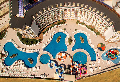 Самолетна почивка в Турция! 7 нощувки на човек на база All inclusive в Calido Maris Hotel 5*, Сиде, Турска ривиера с двупосочен чартърен полет от София - Снимка