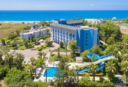 Самолетна почивка в Турция! 7 нощувки на човек на база Ultra all inclusive в Club Aqua Plaza 4*, Алания, Турска ривиера с двупосочен чартърен полет от София - Снимка