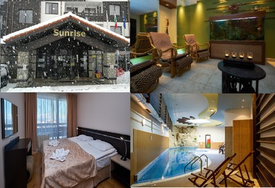 Великден и Майски празници в Банско в хотел Сънрайз 4*! Нощувка на база All Inclusive Light, ползване на отопляем закрит басейн и парна баня, безплатно за дете до 5.99 г. - Снимка