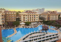 Самолетна почивка в Турция! 7 нощувки на човек на база All inclusive в Grand Seker 4*, Сиде, Турска ривиера с двупосочен чартърен полет от София - Снимка