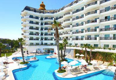 Самолетна почивка в Турция! 3 нощувки на човек на база Ultra all inclusive в Heaven Beach Resort & Spa 5*, Сиде, Турска ривиера с двупосочен чартърен полет от София - Снимка