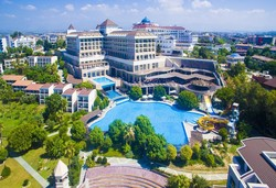 Самолетна почивка в Турция! 7 нощувки на човек на база Ultra all inclusive в Horus Paradise Luxury Resort 5*, Сиде, Турска ривиера с двупосочен чартърен полет от София - Снимка