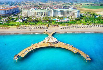 Самолетна почивка в Турция! 3 нощувки на човек на база Ultra all inclusive в Lyra Resort Hotel 5*, Сиде, Турска ривиера с двупосочен чартърен полет от София - Снимка