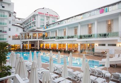 Самолетна почивка в Турция! 7 нощувки на човек на база All inclusive в Merve Sun Hotel & Spa 4*, Сиде, Турска ривиера с двупосочен чартърен полет от Варна - Снимка