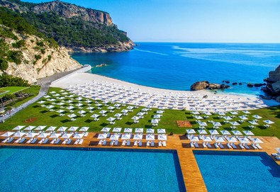 Самолетна почивка в Турция! 4 нощувки на човек на база Ultra all inclusive в Maxx Royal Kemer Resort 5*, Кемер, Турска ривиера с двупосочен чартърен полет от София - Снимка