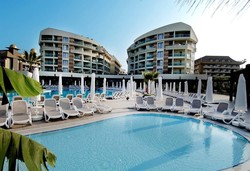 Самолетна почивка в Турция! 7 нощувки на човек на база All inclusive в Seamelia Beach Resort Hotel & Spa 5*, Сиде, Турска ривиера с двупосочен чартърен полет от София - Снимка