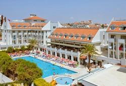 Самолетна почивка в Турция! 7 нощувки на човек на база All inclusive в Seher Sun Beach 4*, Сиде, Турска ривиера с двупосочен чартърен полет от София - Снимка