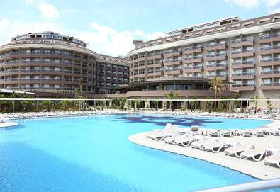 Самолетна почивка в Турция! 3 нощувки на човек на база All inclusive в Sunmelia Beach Resort Hotel & Spa 5*, Сиде, Турска ривиера с двупосочен чартърен полет от София - Снимка