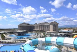 Самолетна почивка в Турция! 7 нощувки на човек на база All inclusive в Sunmelia Beach Resort Hotel & Spa 5*, Сиде, Турска ривиера с двупосочен чартърен полет от София - Снимка