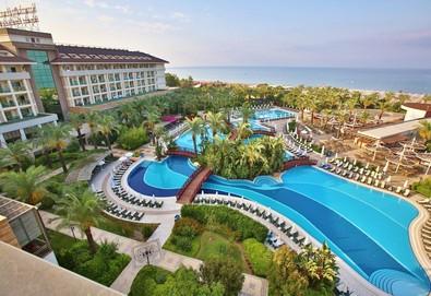 Самолетна почивка в Турция! 7 нощувки на човек на база Ultra all inclusive в Sunis Kumkoy Beach Resort Hotel & Spa 5*, Сиде, Турска ривиера с двупосочен чартърен полет от София - Снимка