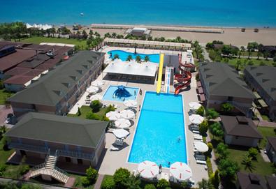 Самолетна почивка в Турция! 7 нощувки на човек на база All inclusive в Arma`s Beach Hotel 4*, Белек, Турска ривиера с двупосочен чартърен полет от София - Снимка