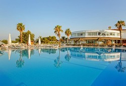 Самолетна почивка в Турция! 7 нощувки на човек на база Ultra all inclusive в Euphoria Palm Beach Resort 5*, Сиде, Турска ривиера с двупосочен чартърен полет от София - Снимка