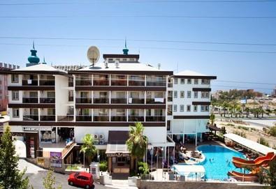 Самолетна почивка в Турция! 7 нощувки на човек на база All inclusive в Holiday City 4*, Сиде, Турска ривиера с двупосочен чартърен полет от София - Снимка