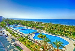 Самолетна почивка в Турция! 7 нощувки на човек на база Ultra all inclusive в Mc Arancia Resort Hotel 5*, Анталия, Турска ривиера с двупосочен чартърен полет от София - Снимка