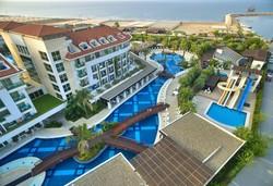 Самолетна почивка в Турция! 7 нощувки на човек на база Ultra all inclusive в Sunis Evren Beach Resort 5*, Сиде, Турска ривиера с двупосочен чартърен полет от София - Снимка