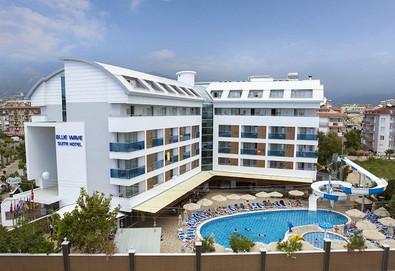 Самолетна почивка в Турция! 7 нощувки на човек на база All inclusive в Blue Wave Suite Hotel 4*, Анталия, Турска ривиера с двупосочен чартърен полет от София - Снимка