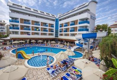 Самолетна почивка в Турция! 7 нощувки на човек на база All inclusive в Blue Wave Suite Hotel 4*, Анталия, Турска ривиера с двупосочен чартърен полет от Варна - Снимка