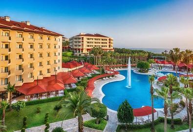 Самолетна почивка в Турция! 7 нощувки на човек на база All inclusive в Miramare Queen Hotel 4*, Сиде, Турска ривиера с двупосочен чартърен полет от София - Снимка