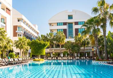 Самолетна почивка в Турция! 7 нощувки на човек на база All inclusive в Port Side Resort Hotel 5*, Сиде, Турска ривиера с двупосочен чартърен полет от София - Снимка