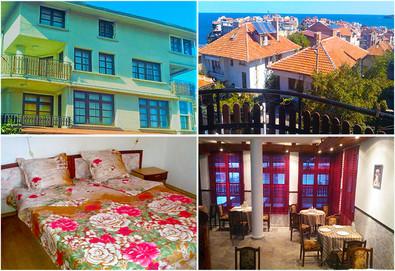 Слънчева лятна почивка в Семеен хотел Слънце-VIP зона, Созопол! Нощувка, нощувка със закуска, закуска и вечеря или закуска, обяд и вечеря, безплатно за дете до 5.99г. - Снимка