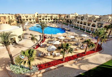 Самолетна почивка в Египет! 7 нощувки на човек на база All inclusive в Stella Di Mare Gardens Resort & Spa 5*, Хургада, Червено Море с двупосочен чартърен полет от София - Снимка