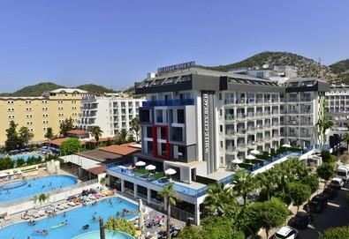 Самолетна почивка в Турция! 3 нощувки на човек на база All inclusive в White City Beach Hotel 4*, Анталия, Турска ривиера с двупосочен чартърен полет от София - Снимка