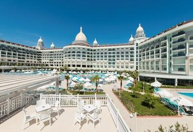 Самолетна почивка в Турция! 7 нощувки на човек на база All inclusive в Diamond Premium Hotel & Spa 5*, Сиде, Турска ривиера с двупосочен чартърен полет от София - Снимка