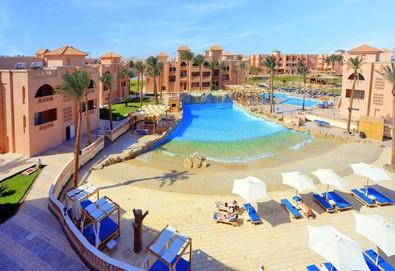 Самолетна почивка в Египет! 7 нощувки на човек на база All inclusive в Aqua Blu Resort 4*, Хургада, Червено Море с двупосочен чартърен полет от София - Снимка