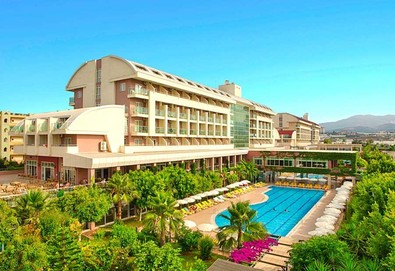 Самолетна почивка в Турция! 7 нощувки на човек на база All inclusive в Telatiye Resort Hotel 5*, Анталия, Турска ривиера с двупосочен чартърен полет от София - Снимка