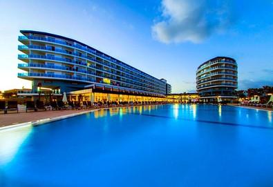 Самолетна почивка в Турция! 3 нощувки на човек на база All inclusive в Eftalia Marin Resort 5*, Анталия, Турска ривиера с двупосочен чартърен полет от София - Снимка