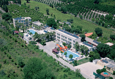 Самолетна почивка в Турция! 7 нощувки на човек на база All inclusive в Golden Sun Hotel 3*, Кемер, Турска ривиера с двупосочен чартърен полет от София - Снимка
