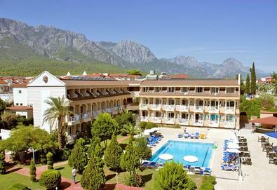 Самолетна почивка в Турция! 3 нощувки на човек на база All inclusive в Ares Blue Hotel 4*, Кемер, Турска ривиера с двупосочен чартърен полет от София - Снимка