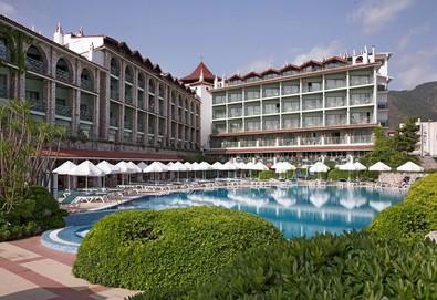 Самолетна почивка в Турция! 7 нощувки на човек на база All inclusive в Marti La Perla Hotel 4*, Мармарис, Егейска Турция с двупосочен чартърен полет от София - Снимка