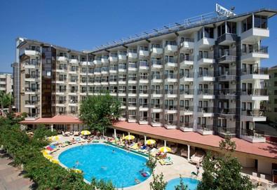 Самолетна почивка в Турция! 3 нощувки на човек на база All inclusive в Monte Carlo Hotel 4*, Анталия, Турска ривиера с двупосочен чартърен полет от София - Снимка