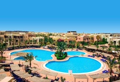 Самолетна почивка в Египет! 5 нощувки на човек на база All inclusive в Jaz Makadi Saraya 5*, Хургада, Червено Море с двупосочен чартърен полет от София - Снимка