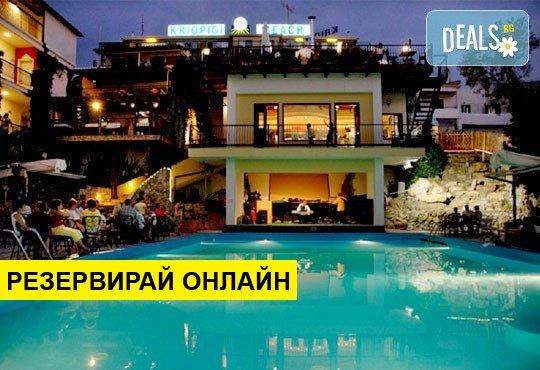 Нощувка на база HB,AI в Hotel Kriopigi 4*, Криопиги, Халкидики