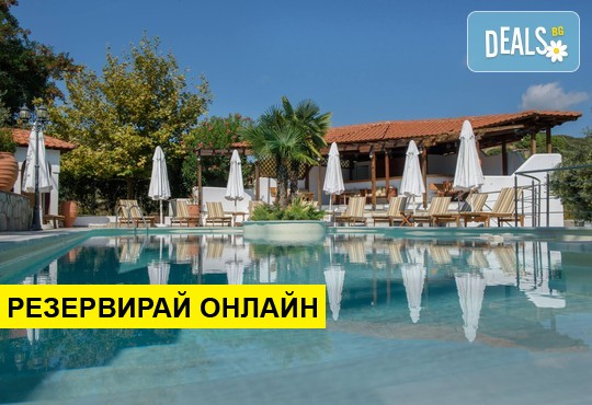 Нощувка на база Закуска в Pyrgos Hotel 2*, Уранополис, Халкидики