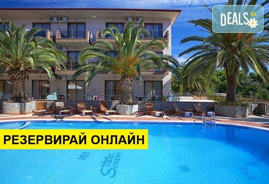 Нощувка на база HB в Hotel Simeon 3*, Метаморфоси, Халкидики