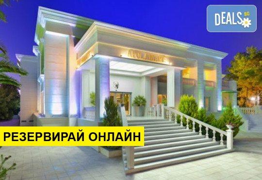 Нощувка на база HB,FB,UI в Elinotel Apolamare Hotel 5*, Ханиоти, Халкидики