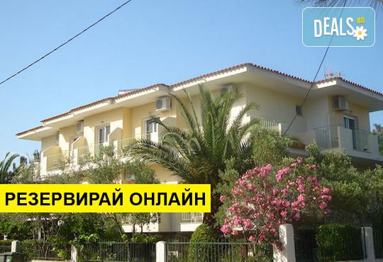 Нощувка на база HB в Filippos Hotel 3*, Скала Рахони, о. Тасос