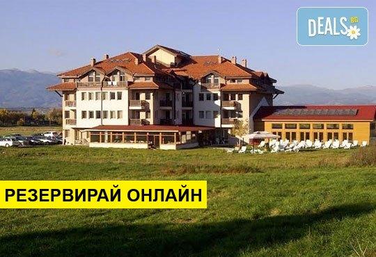 Великден или Гергьовден в Апартаментен хотел Севън Сийзънс Хотел 2*, с. Баня: 3 нощувки на база НВ, релакс зона