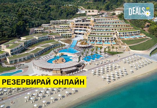 Нощувка на база BB,HB,FB в Miraggio Thermal Spa Resort 5*, Палюри, Халкидики
